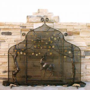 Каминный экран кованый ГК-КЭ-12