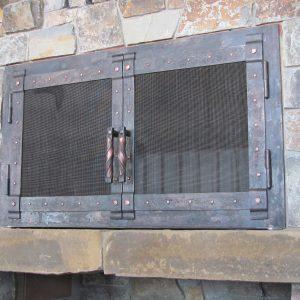 Каминный экран кованый ГК-КЭ-19
