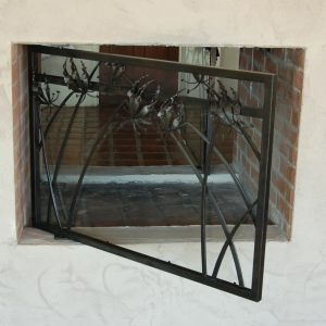Каминный экран кованый ГК-КЭ-21