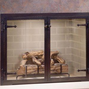 Каминный экран кованый ГК-КЭ-23