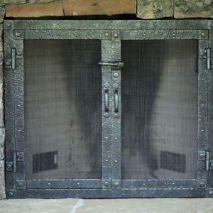 Каминный экран кованый ГК-КЭ-25