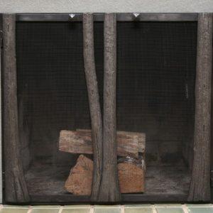 Каминный экран кованый ГК-КЭ-41